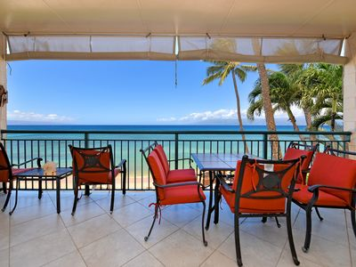 Photo for Makani Sands #310 Spacious Corner 3brm Penthouse Ocean Front