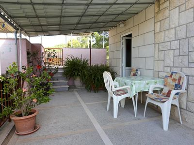 Photo for One bedroom apartment with terrace Korčula (A-10042-b)
