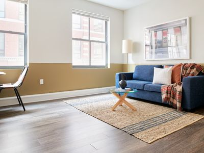 Photo for Sonder | Financial District | Cozy 1BR + Sofa Bed