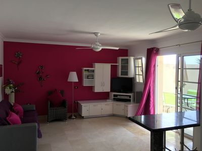 Photo for Beautiful apartment in Puerto de Mogan, Large sunny terrace with heated pools