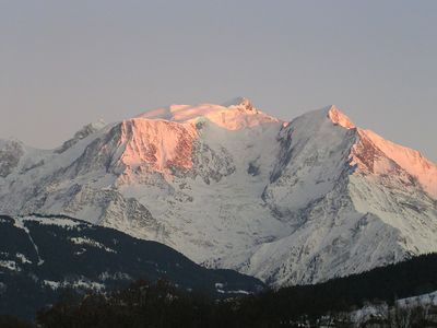 View on the Mont-Blanc from the flat