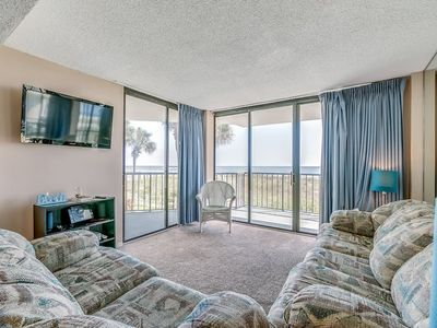 Photo for Bright and Spacious Oceanfront Unit, Outdoor Pool   Crescent Sands CB - D1