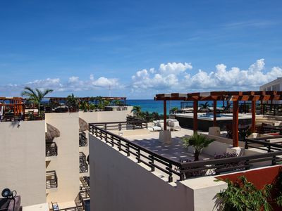 Photo for Aldea Thai ocean view. 3BR Penthouse big private roof top & pool by ocean front