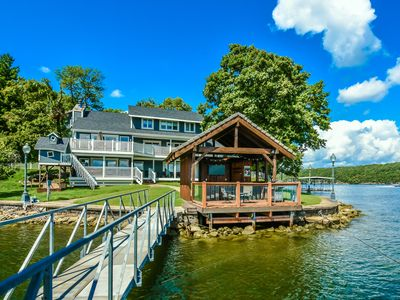 Photo for Tiki Point! Your Ultimate Family Vacation Awaits: Boat Dock, HotTub, Guest House