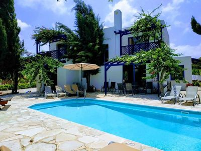 Photo for Kissonerga Villa, Sleeps 8 with Pool, Air Con and WiFi