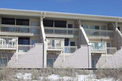 View of unit from the beach