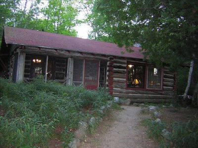 Log house in the woods rustic and comfortable.