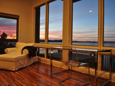 Photo for Amazing Views, Private Dock, Outdoor Hot Tub, 2 Master Bedrooms