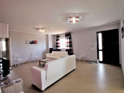 Photo for Stunning private villa for 8 people with WIFI, TV, pets allowed and parking