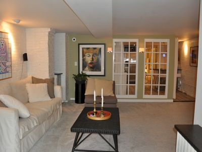 Photo for DOWNTOWN! Large Garden apartment Walk to Museums Metro Convention Center