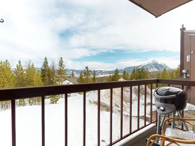 Photo for Inviting condo w/ shared hot tub, private balcony w/ gas grill, & wood fireplace