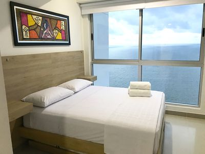 Photo for Beach front apartment at 26th floor. close to everything, completly equiped.