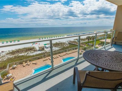 Photo for 4th Floor W/ Views Of The Gulf Coast!   Beach Front Balcony!