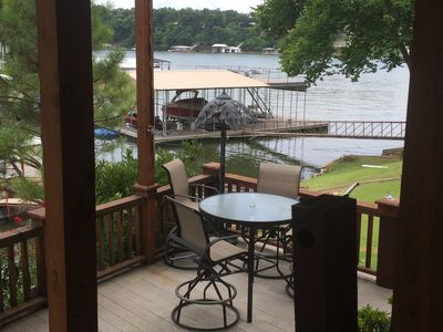 Photo for Grand Lake Waterfront Cabin Covered Boat Dock and Carport for One Car Incl.