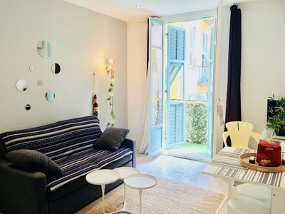 Photo for On the port of Nice-2 rooms-totally renovated-air-conditioned-wifi-