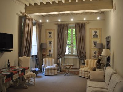 Photo for ELEGANT APARTMENT WITH TERRACE IN THE HEART OF LUCCA'S HISTORICAL CENTER