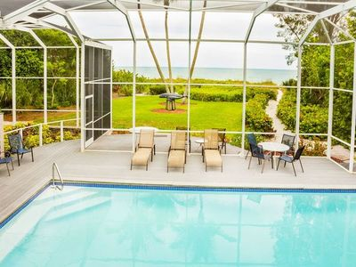 Photo for Spacious Beachfront 4 Bedroom Sanibel Home on West Gulf Drive - Whaleview