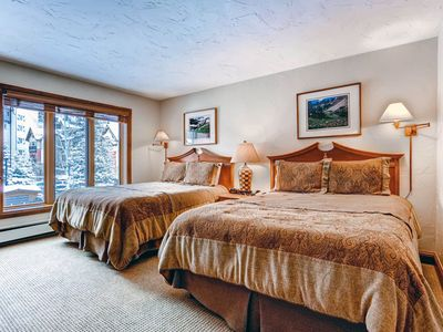 Photo for Vail Two Queen Hotel Room. Steps to Ski Lift, Hot Tub, Pool