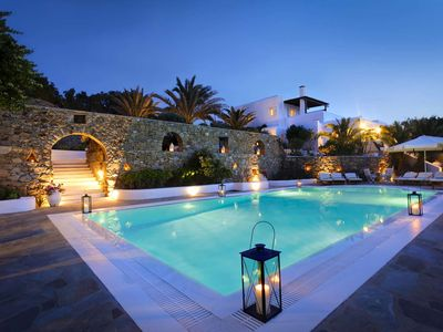 Photo for Villa Hurmuses, 15-minute walk from Mykonos town, with 5 bedrooms, it can accommodate 10 people.