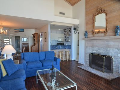 Photo for Oceanfront Villa with Elevator, gas fireplace, grills, outside shower and book library