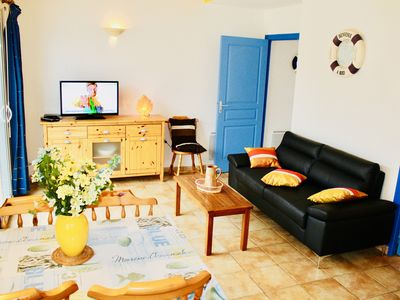 Photo for 50 meters from the beach, very quiet and cozy home, ALL INCLUSIVE PRICE.