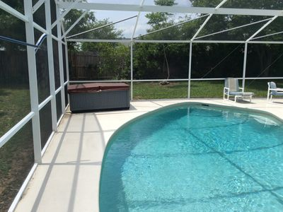 Photo for 5 Mins. to Disney 3 BR/2BA Private Pool/Hot Tub/Pool Table/Fenced Yard. Pets OK.