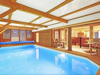 Photo for La Clusaz - Luxury chalet ***** with pool, sauna, garden and wine cellar