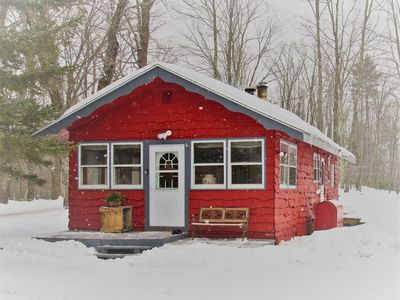 Photo for The Little Red Cabin! Close to Everything VT! Winter Season Available!