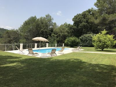 Photo for Magnificent garden level with private swimming pool, not overlooked, river at 300m