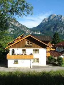 Photo for Extremely well maintained 4 star apartment with a view of Neuschwanstein Castle