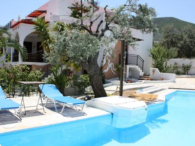 Photo for Heavenly view of the sea, large terrace, pool, wifi | holiday house Arkadien, Pe