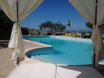 Photo for Resort with pool, breathtaking views of the Egadi and Mothia. Relax and privacy