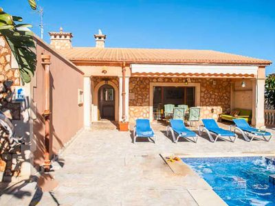 Photo for 3 bedroom Villa, sleeps 6 in Portocolom with Air Con and WiFi