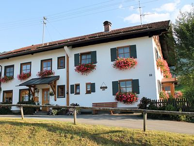 Photo for Holiday home in the Allgäu featuring a tiled stove and a private terrace with mountain views.