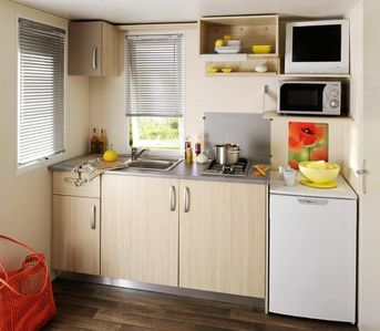 Photo for Camping Domaine de la Palme *** - Air-conditioned Comfort Duo Chalet 2 rooms 2/3 people
