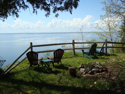 Photo for Secluded Retreat With Blue Water Vista