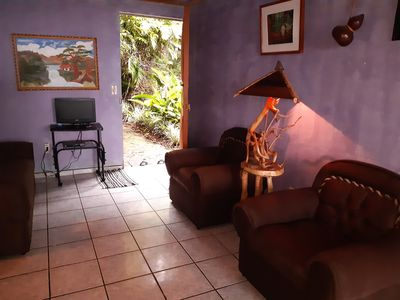 Photo for MONTEVERDE - Comfy, well-equipped  Cottage in woods with view!