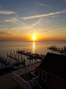 Photo for Beach Haven Condo on the bay, sunset views park your car and walk to everything