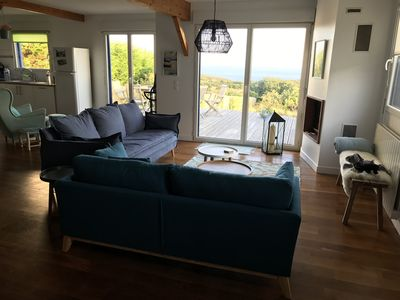 Photo for Large, modern holiday home with beautiful Breton sea views