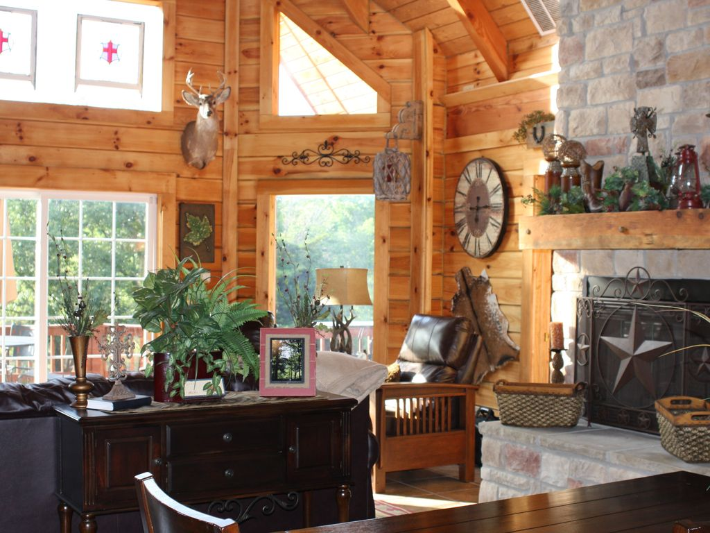 log cabin awesome getaway expansive deck f vrbo