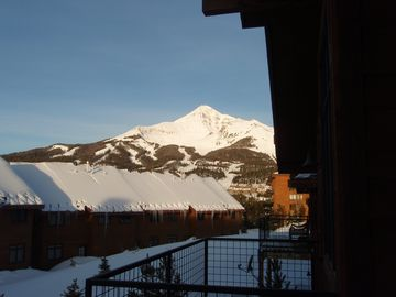 Lone Peak view from the main level deck
