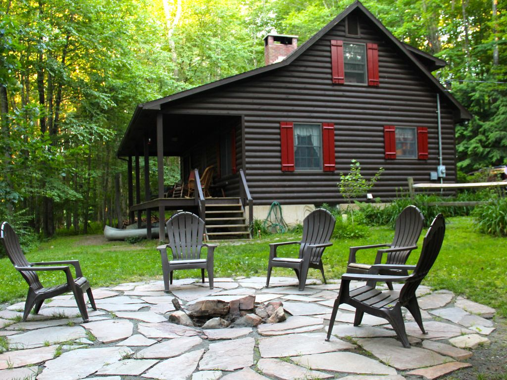 river cabins rate delaware fron poconos homeaway cabin rental special springtime vacation