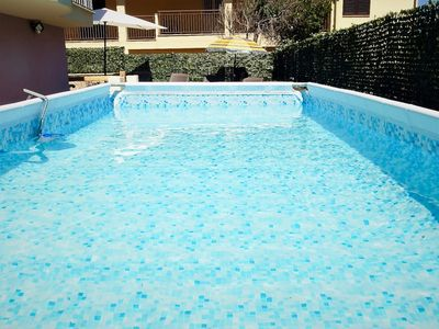 Photo for Large Valledoria Villa with pool for 10 people 500 meters from the beach