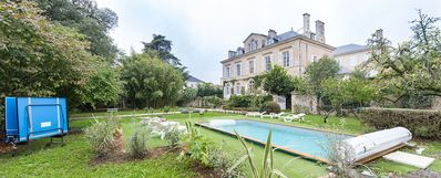 Photo for Gite with pool in a mansion in the city center near all shops