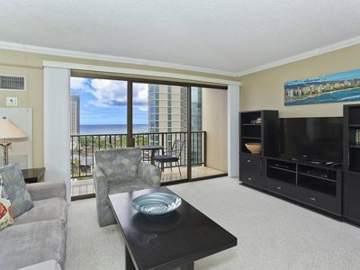 Photo for Partial Ocean View, AC, WiFi, parking, washer/dryer and washlet!