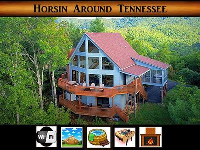 Photo for Horsin Around Tennessee} Mountain Views \ Game Room \ Hot Tub \ Wifi