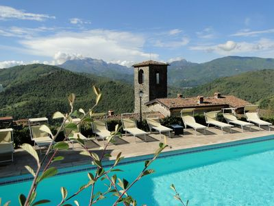 Photo for Stunning converted monastery with amazing views, private pool