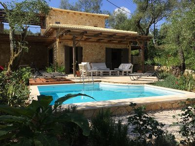 Photo for Villa Katina - Delightful Stone Built Villa set amongst Olive Groves and just 350 meters to the Pretty Beach of Avlaki - Free WiFi