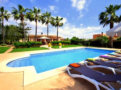 Photo for Beautiful Finca Sa Palmera at Porto Cristo, pool, 3 bedrooms, 2 bathrooms, wifi