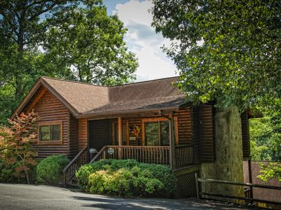 Photo for Cozy Cabin | Right off Parkway | Safe Roads | Hot Tub | King Beds